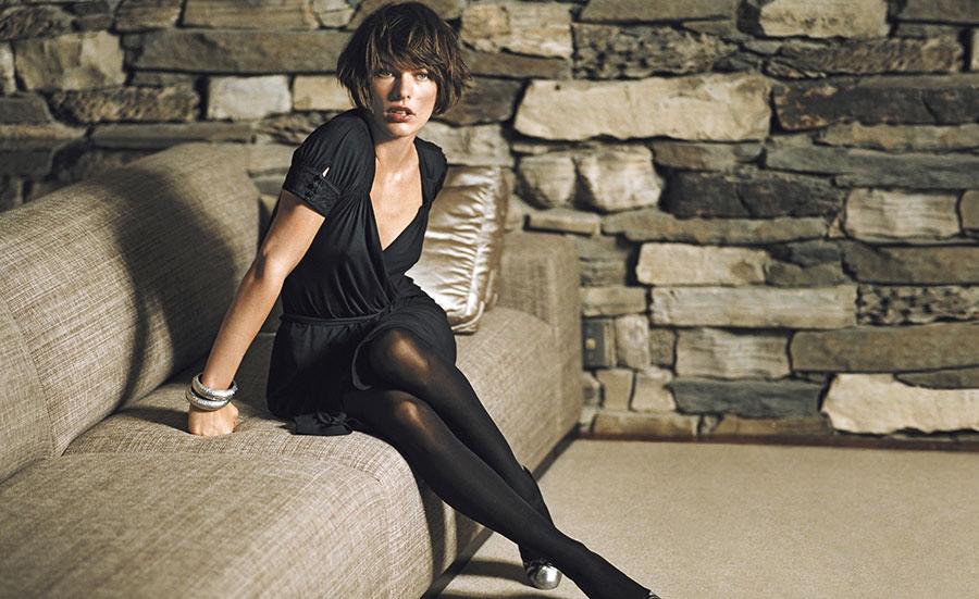 Milla Jovovich Short Hair Style Wallpaper Facebook Cover