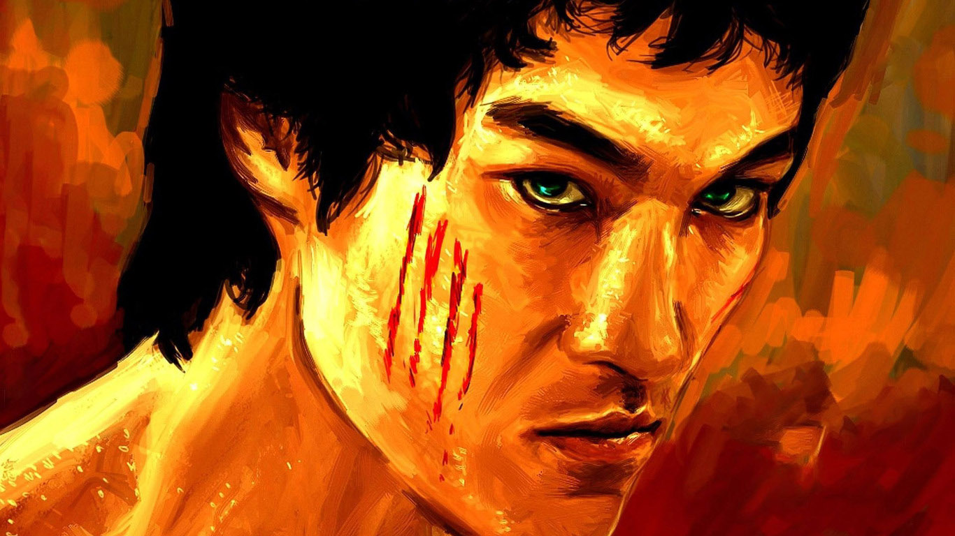 Bruce lee painting iamges for Lee s painting