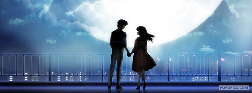 Couple In Moon Light FB Cover