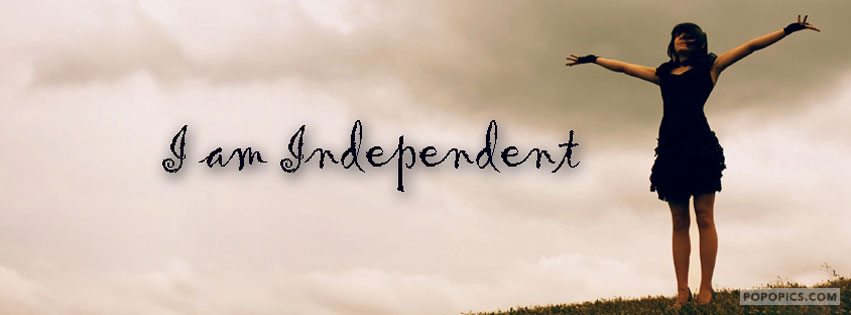 Independent Girl Facebook Cover