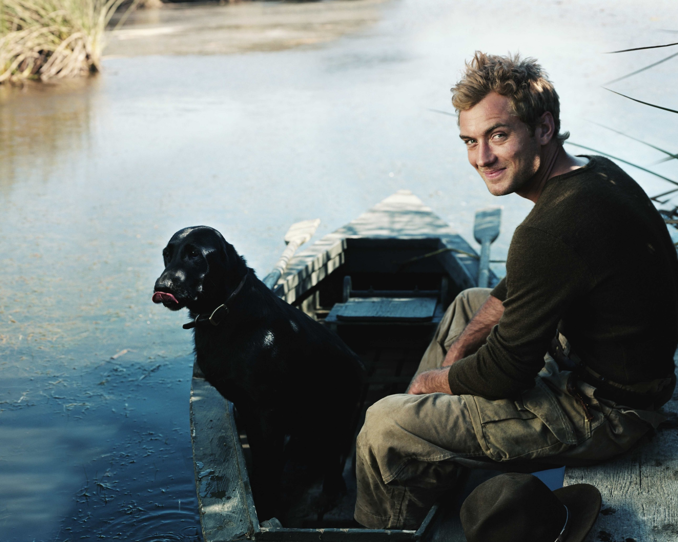 Jude Law With Dog - Facebook Cover