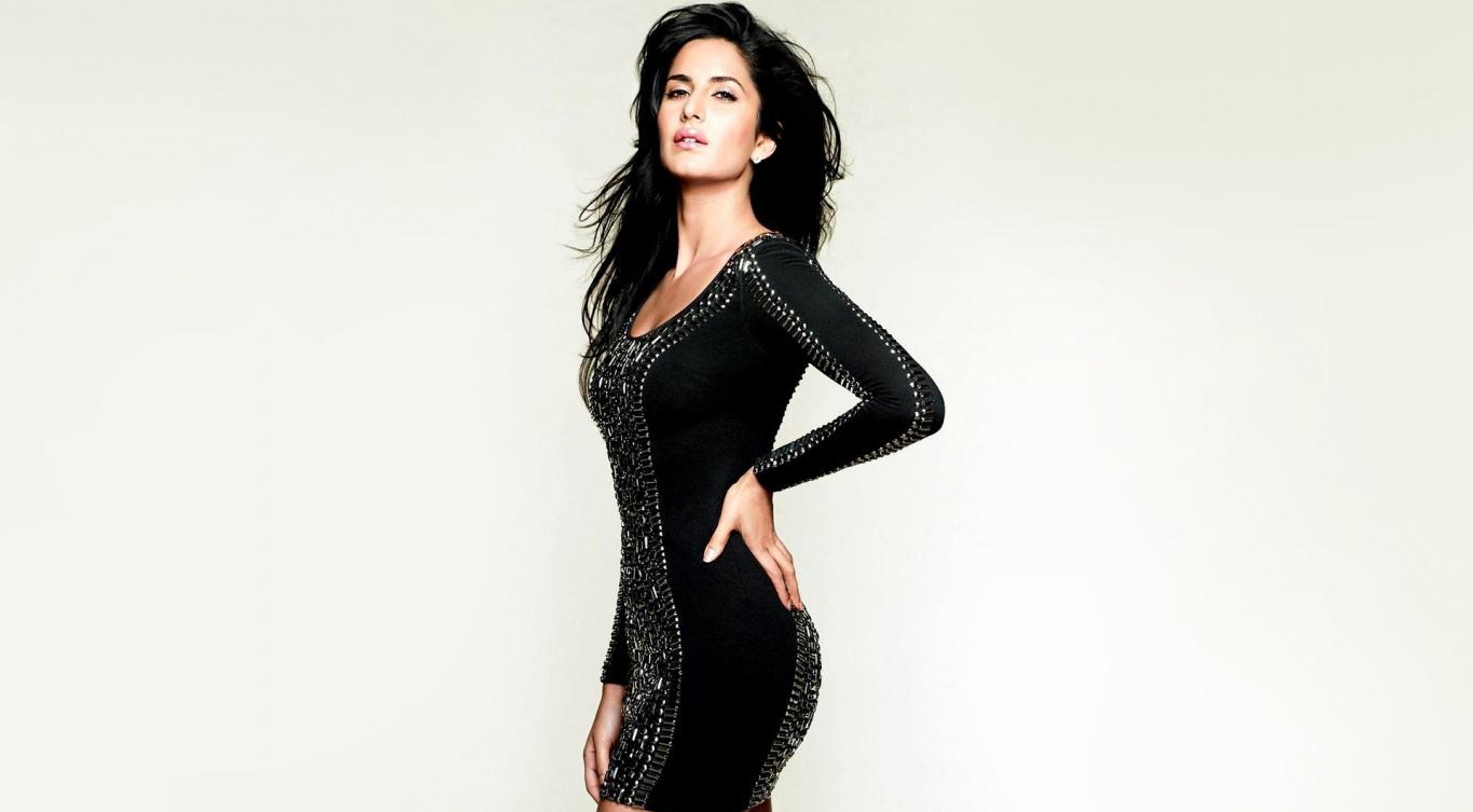 Katrina Kaif In Black Dress • PoPoPics.com