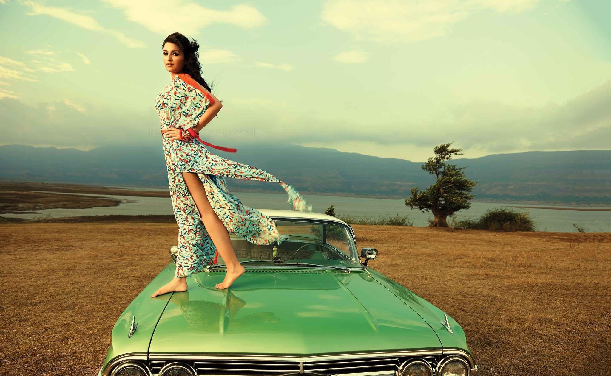 Parineeti Chopra With Car Wallpapers Facebook Cover Popopics Com