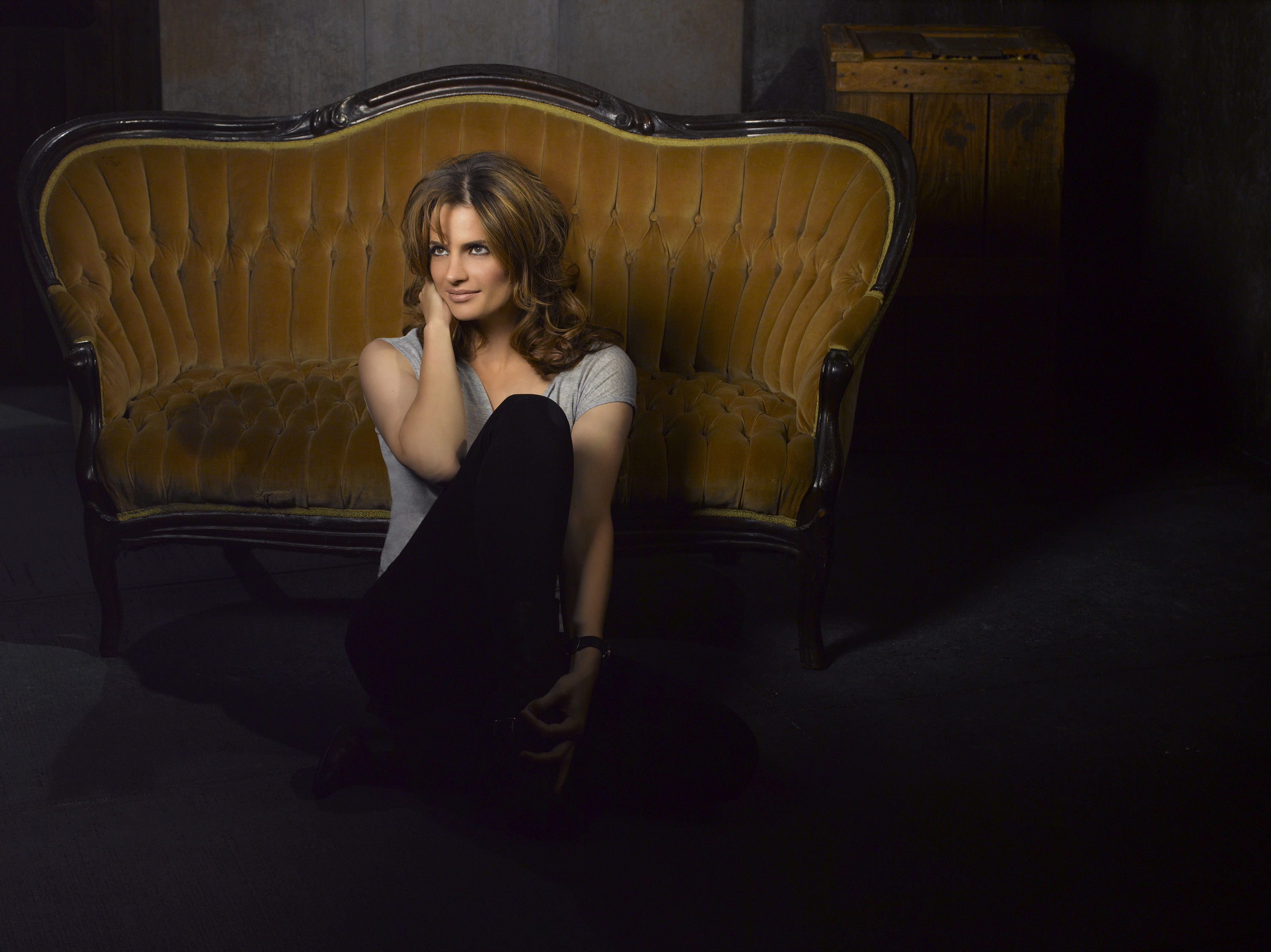 Stana Katic Castle Photoshoot Popopics Com