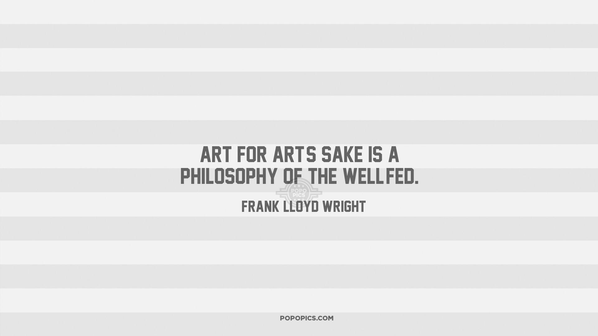 Frank Lloyd Wright. Sake; Philosophy. Download; 3 Downloads