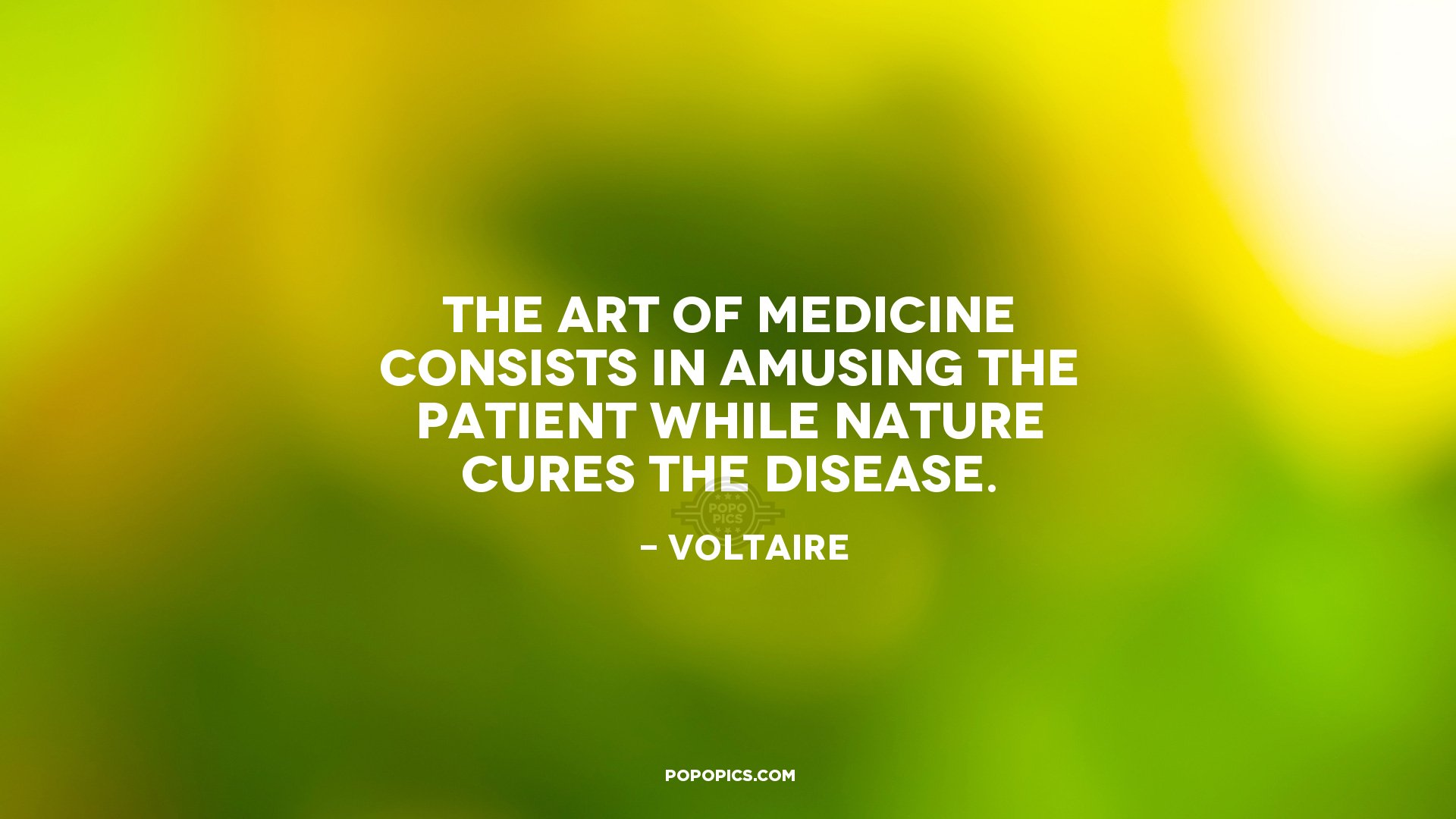 Quotes Voltaire The Art Of Medicine Consists In Amusing The Quotes.