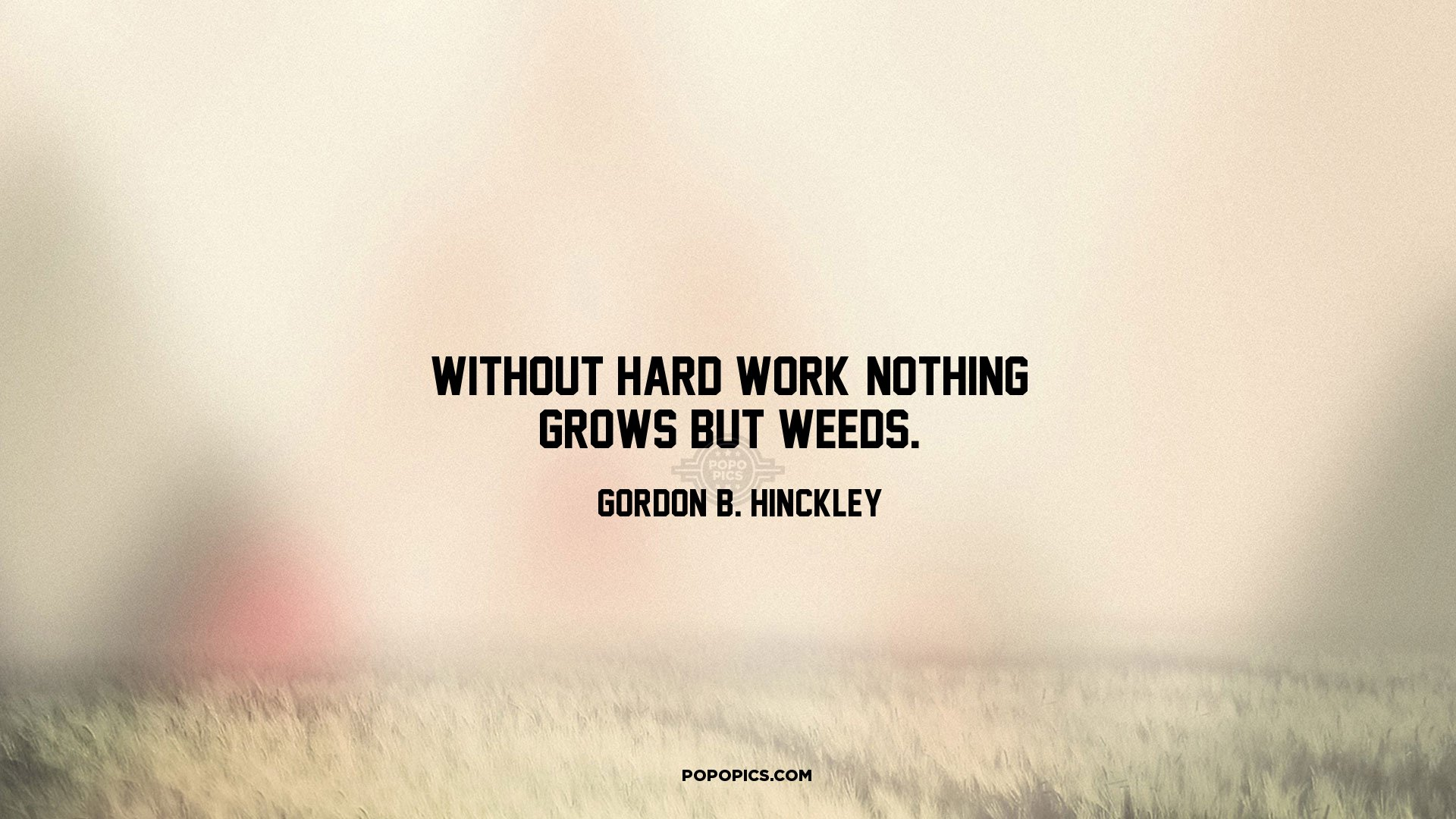 Gordon B Hinckley Quotes Without Hard Work Nothing Grows But Weeds Quotesgordon B