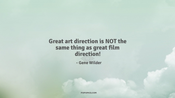 Great Art Direction Is NOT The Same Thing As...