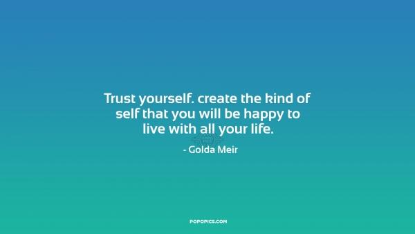 Picture Golda Meir Quote About Trust: Golda Meir Quotes. QuotesGram